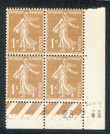 Lot C422 France Coin Daté Semeuse N°277B(**) - 1930-1939