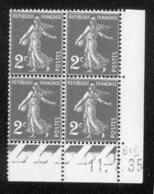 Lot C425 France Coin Daté Semeuse N°278(**) - 1930-1939