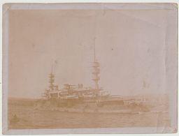 Marine Nationale Française Navire Amiral Le Cuirassé Charles Martel 1897  à Toulon - Krieg