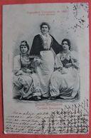 BOSNIE-HERZÉGOVINE- COSTUMES BOSNIAQUES Exposition Universelle 1900 - Femmes Folklore DOS SIMPLE 1900 - Bosnien-Herzegowina