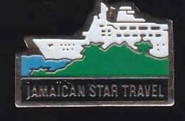 65701-Pin's-Compagnie Maritime Jamaican Star Travel.Bateau De Croisiere.La Jamaïque. Caraïbes, - Barcos
