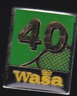 65719-Pin's-Wasa Est Le Plus Grand Producteur De Pain Croustillant Dans Le Monde.Tennis. - Alimentation