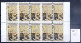 BELGIE * Nr 2247 * 10 Stuks - 130 Frank/franc * Postfris Xx - Bélgica