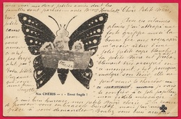 "CPA ""NOS CHERIS"" Envoi Fragile - Enfants Et Papillon - Tarjetas Humorísticas"