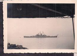 Italia - Napoli - Nave Da Guerra Nel Golfo Di Napoli - Circa 1950 - Fotografia - 10cm X 7cm - Cygnus - Krieg, Militär