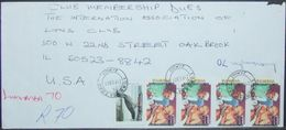 Zambia - Registered Cover To England 2001 Gandhi Overprinted - Mahatma Gandhi