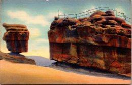 Colorado Garden Of The Gods Balanced And Steamboat Rocks Curteich - Etats-Unis