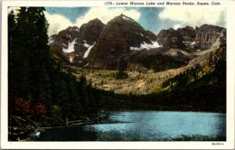 Colorado Aspen Lower Maroon Lake And Maroon Peaks - Etats-Unis
