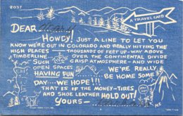 Colorado Travel Card 1951 Curteich - Etats-Unis