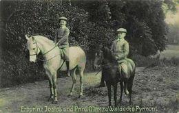 Erbprinz Josias Und Prinz Max Zu Waldeck Pyrmont Royal Children Postcard - Königshäuser