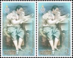 150th Birthday Of Her Majesty Queen Saovabha Phongsri -HORIZ. PAIR- (MNH) - Thaïlande