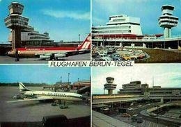 Flughafen Berlin Tegel Airport Air France Airplane Postcard - Cartes Postales