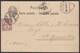 28.AUG.1883  GENEVE  -  FRANCE  /  GANZSACHE MIT ZIFFER 60A  /  ENTWERTUNG MIT SACKSTEMPEL !!! - Covers & Documents