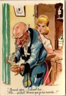 31ksl 1008 GRAND PERE  .... L'ALCOOL TUE ...(DIMENSIONS 10 X 15 CM) - Humour