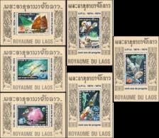 100 Years UPU (1974) (III) - History Of The Postal Service (55A-60A) (MNH) - Laos