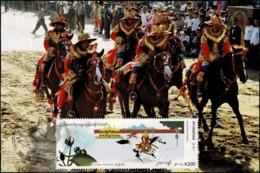 Festivals In Myanmar: Phathou (Equestrian Games) Festival -MAXIMUM CARD MC(I)- - Myanmar (Burma 1948-...)