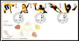 Great Britain FDC 1996 Atlanta Olympic Games - Posted Crystal Palace (NB**LAR9-128) - Summer 1996: Atlanta