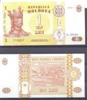 1998. 1 Leu/1998, P-8, UNC - Moldavie