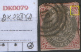 DANMARK 1875  DK 28 II Y A - 1864-04 (Christian IX)