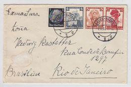 Deutsches Reich Brief Mit Trachten-Frankatur Nach Rio De Janeiro - Lettres & Documents