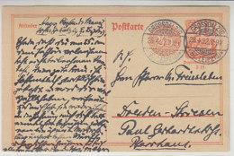 Ganzsache Aus GROSSDALZIG 28.4.22. - Covers & Documents