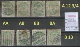 DANMARK 1895  DK 34 Y B : 4 TYPES PERFO - 1864-04 (Christian IX)