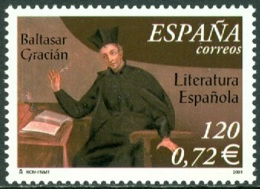 SPAIN 2001 AUTHOR BALTASAR GRACIAN** (MNH) - 1931-Hoy: 2ª República - ... Juan Carlos I