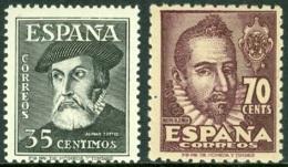 SPAIN 1948 PORTRAITS, EXPLORER HERNAN CORTES AND AUTHOR MATEO ALEMAN** (MNH) - 1931-50 Ungebraucht