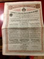 EMPRUNT  De  L' ÉTAT  BULGARE  4 1/2%  OR  1907 ------ Obligation  De  500 Frs - Shareholdings