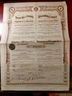 EMPRUNT  4 1/2%  OR  1906  Du  ROYAUME  De  SERBIE  -------Obligation  De. 500 Frs - Shareholdings