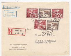 Deutsches Reich R-Brief Mit WHW-ZD-Frankatur AKs - Alemania