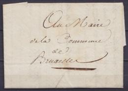 L. Datée 23 Prairial An 10 (1804) De L'Officier Du Génie Maritime (Martelage Et Exploitation Des Bois) Pour Maire De La - 1794-1814 (Période Française)