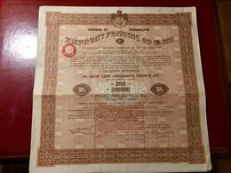 EMPRUNT FUNDING OR 5% 1933 Du ROYAUME DeYOUGOSLAVIE -----Obligation  De 250 Frs - Shareholdings