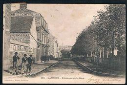 CPA COTES DU NORD - LANNION N°106 - Avenue De La Gare - Circulé, Obl. QUIMPER 28 Janvier 1903 Au Verso - Lannion