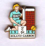 Pin's Tennis Roland Garros BNP 1989 Zamac Arthus Bertrand - Arthus Bertrand