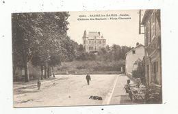 Cp, 25, BAUME LES DAMES , Château Des Rochers ,place Chamars , Voyagée 1937 - Baume Les Dames