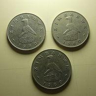 Zimbabwe 3 Coins 50 Cents 1980 - Münzen & Banknoten