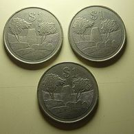 Zimbabwe 3 Coins 1 Dollar 1980 - Münzen & Banknoten