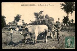 36 - SCENES DU BERRY - LA RENTREE DE LA MOISSON - ATTELAGE DE BOEUFS - AGRICULTURE - Zonder Classificatie