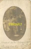 Guerre 14-18, Carte Photo D'un Groupe De Poilus à Pontoise, Corbeille De Pains, Popote... - Guerre 1914-18