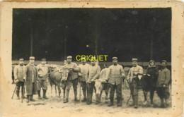 Guerre 14-18, Carte Photo D'un Groupe De Poilus Du 14ème Avec Réquisition De Bétail, Beau Document - Guerre 1914-18