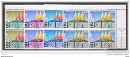 SAN  MARINO:  1977  ESPOSIZIONE  FILATELICA  -  S. CPL. 4  VAL. BL. 4  N. -  SASS. 975/77 + A 154 - Blocs-feuillets
