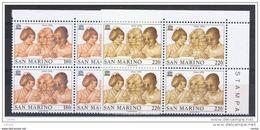 SAN  MARINO:  1976  UNESCO  -  S. CPL. 2  VAL. BL. 4  N. -  SASS. 971/72 - Blocs-feuillets