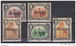 NYASSA:  1903  SOPRASTAMPA  GRANDE  -  5  VAL. L. -  YV/TELL. 40//47 - Nyassa