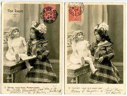 Une Leçon - Jeune Fille Et Sa Poupée -  5 Cartes - Voir Scan - Children