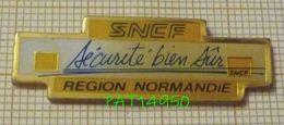 SNCF REGION NORMANDIE  SECURITE BIEN SUR - Transportes