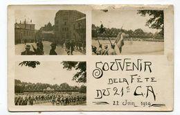 Carte Photo 88 :  EPINAL   Multi Vues  Souvenir Fête Du 21 ème CA 22 Juin 1919  VOIR DESCRIPTIF  §§§§§§ - Epinal