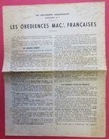 Ww2 Tract Propagande Pétain Anti-Franc-maçonnerie Les Obédiences Maçonniques Françaises GO,GLDF,DH,GLNIR,Misraim EtPlan - Documents Historiques