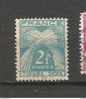 N°82 Timbre Taxe 2 Francs France 1946/1955  Oblitéré Type Gerbes - 1859-1955 Used