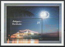 Antigua Et Barbuda 1998 Bloc Eclipse Totale De Soleil  Antigua And Barbuda 1998 Total Solar Eclipse - Astronomy